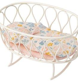Maileg Cradle w/ Sleeping Bag, Off White