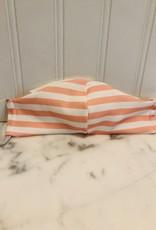 Jennifer Ann Cotton Mask - Kid Coral Stripe 3-7 years old