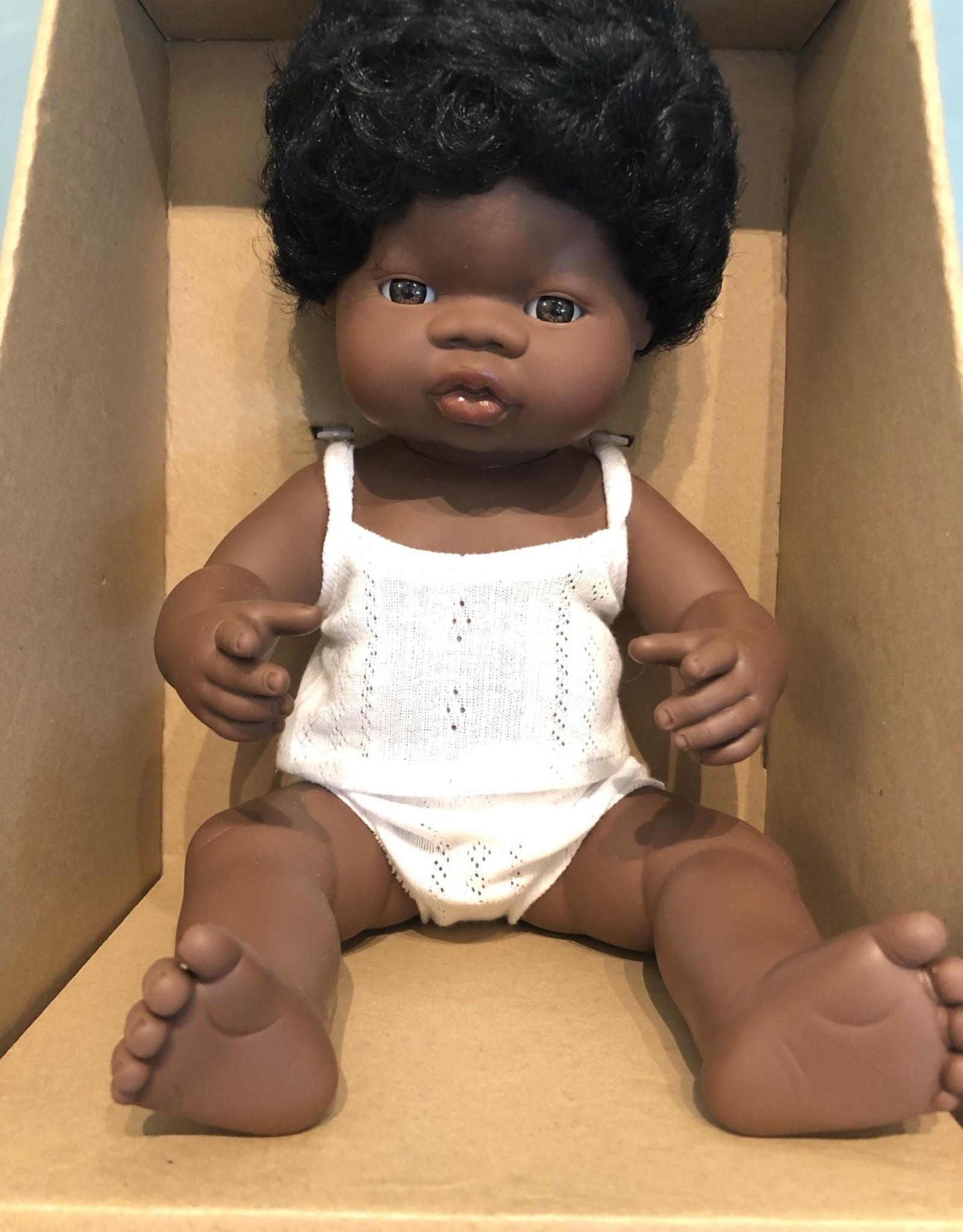 """Miniland Baby Doll African 15"""" Boy"""