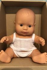 "Miniland Newborn Baby Doll Caucasian 8.25"" Girl"
