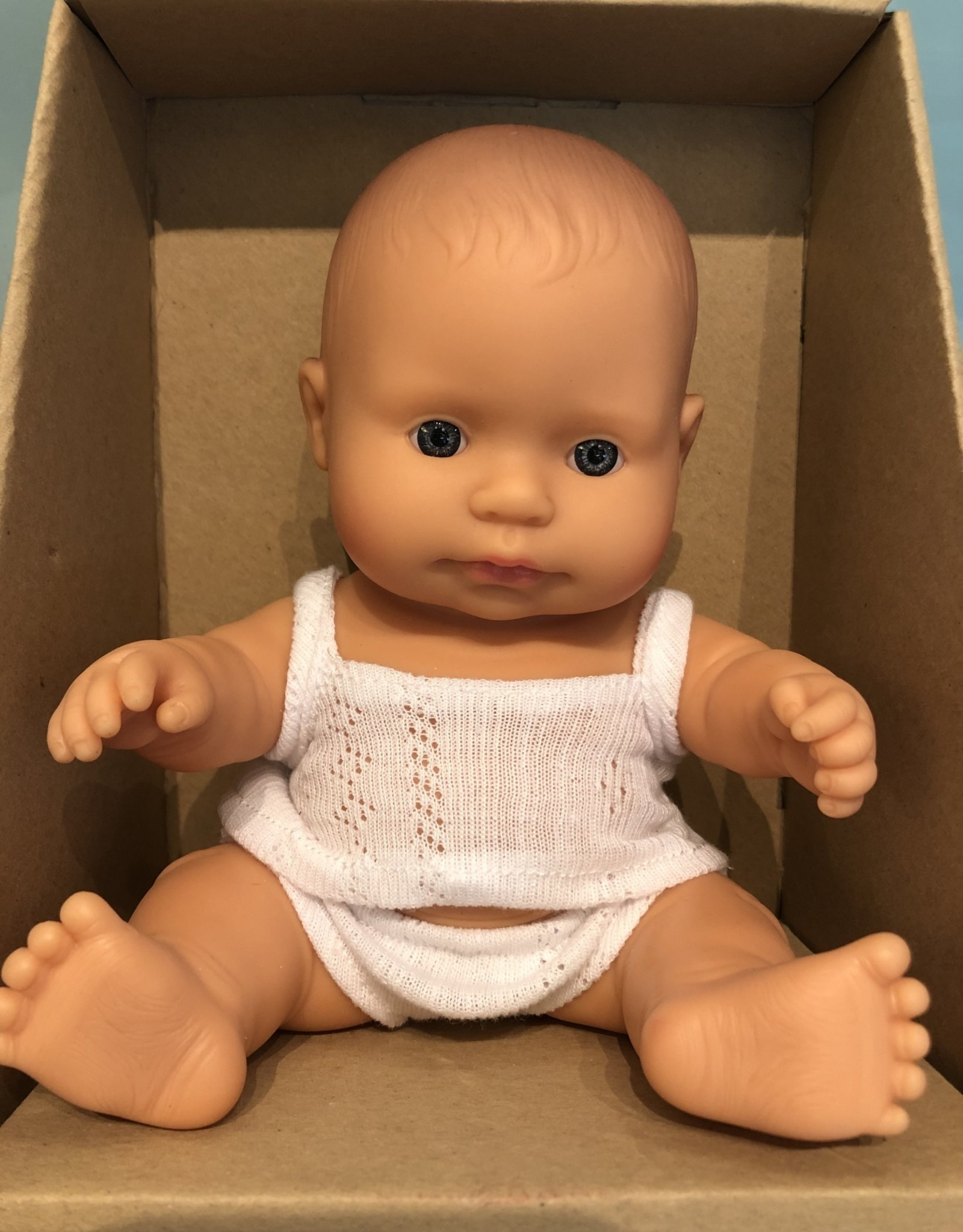 "Miniland Newborn Baby Doll Caucasian 8.25"" Boy"