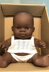 """Miniland Newborn Baby Doll African 8.25"""" Boy"""