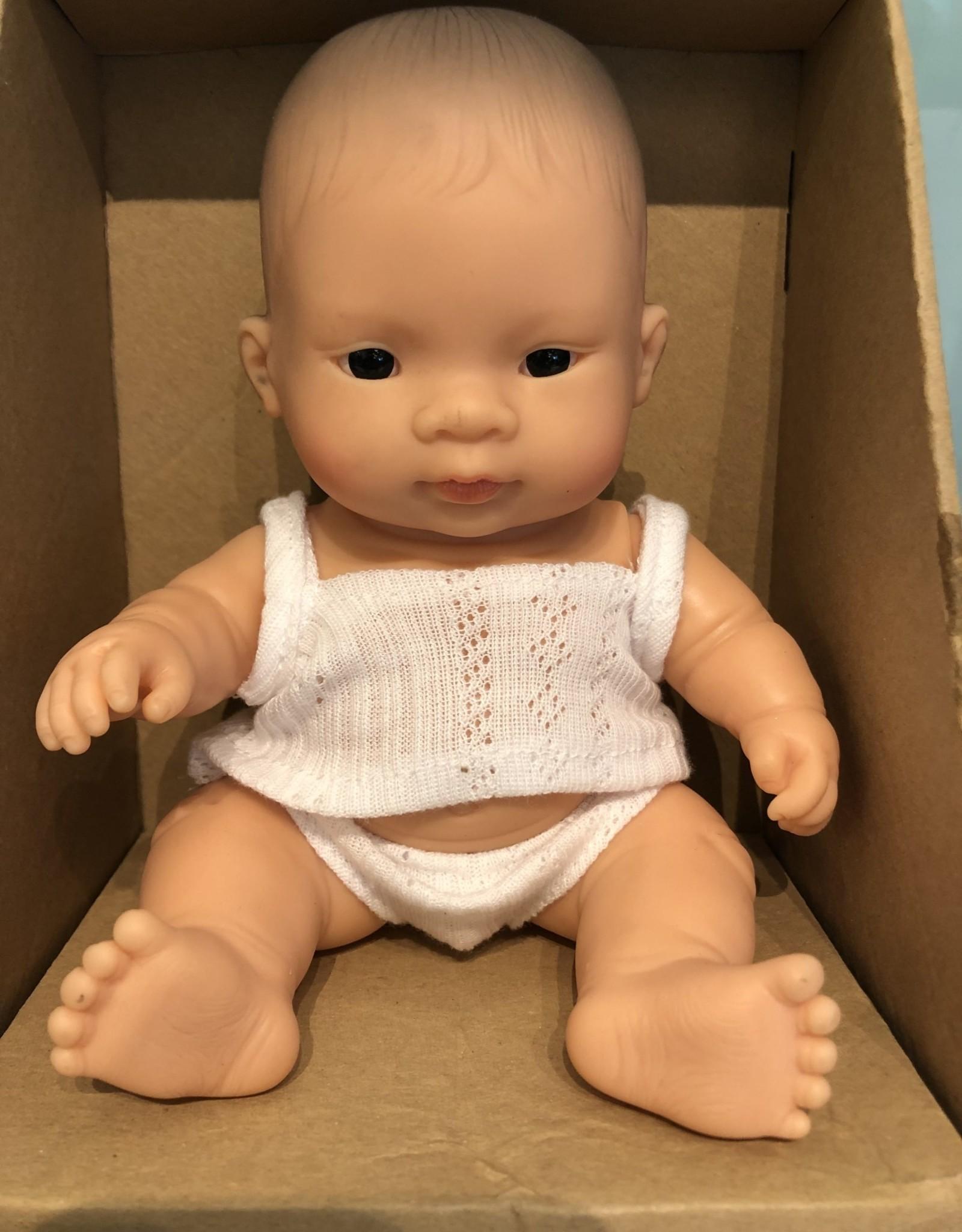 """Miniland Newborn Baby Doll Asian 8.25"""" Boy"""