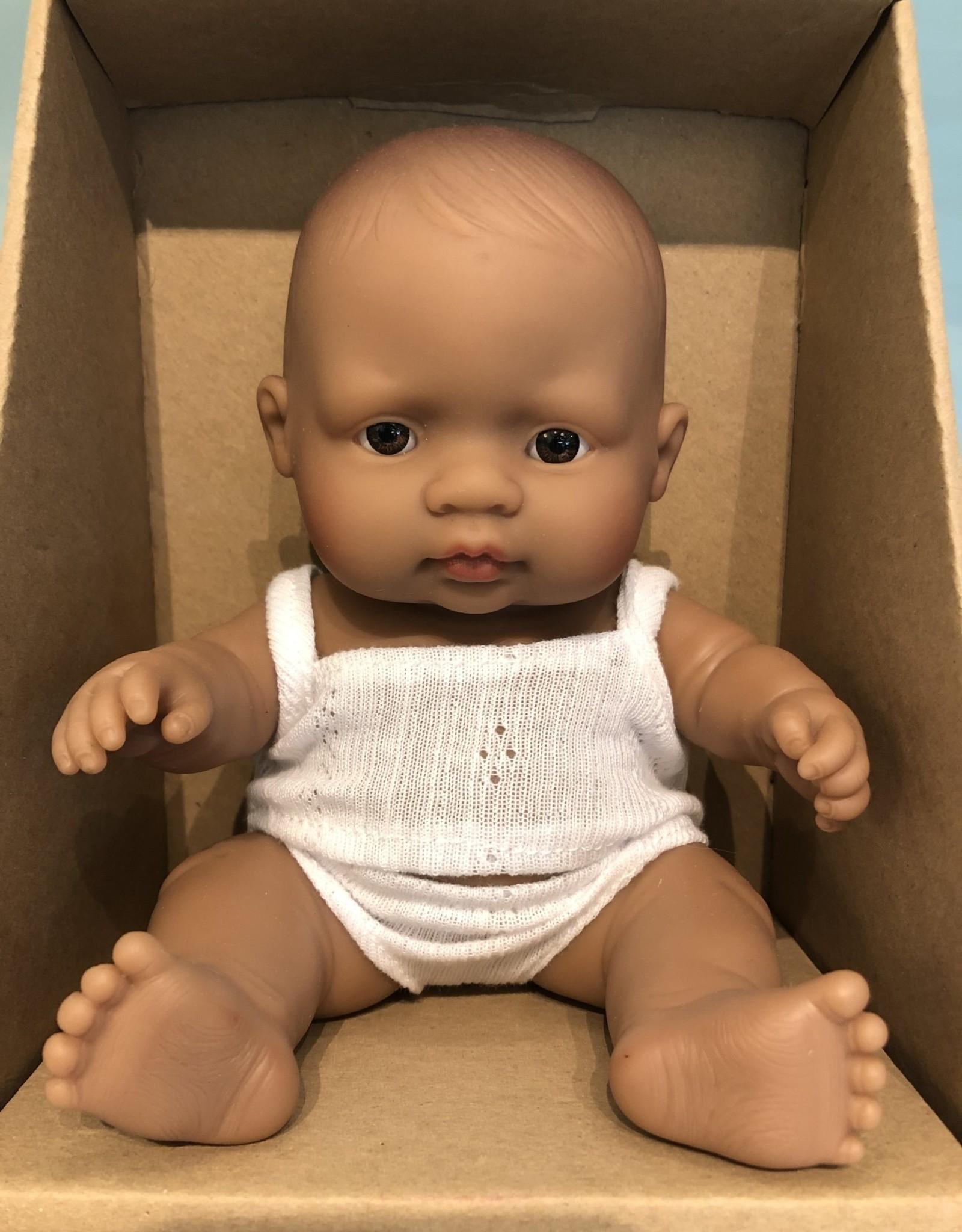 "Miniland Newborn Baby Doll Hispanic 8.25"" Boy"