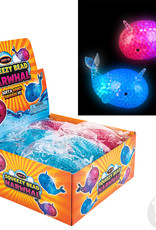 """The Toy Network 5"""" Light-Up Squeezy Bead Narwhal"""