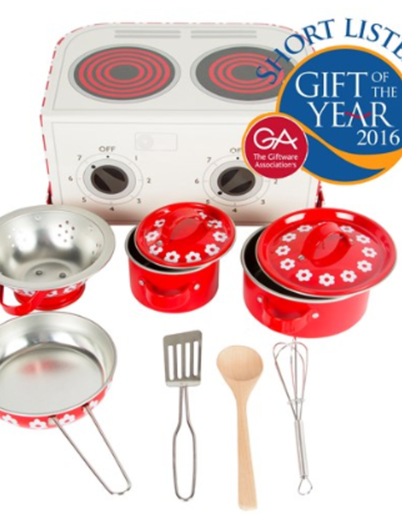 Sass & Belle Play Cooking Set Red Daisies