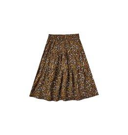 Rylee + Cru Dark Floral Tiered Midi Skirt