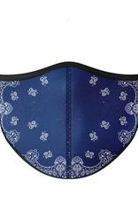 Top Trenz Fashion Face Mask, Large, Navy Bandana