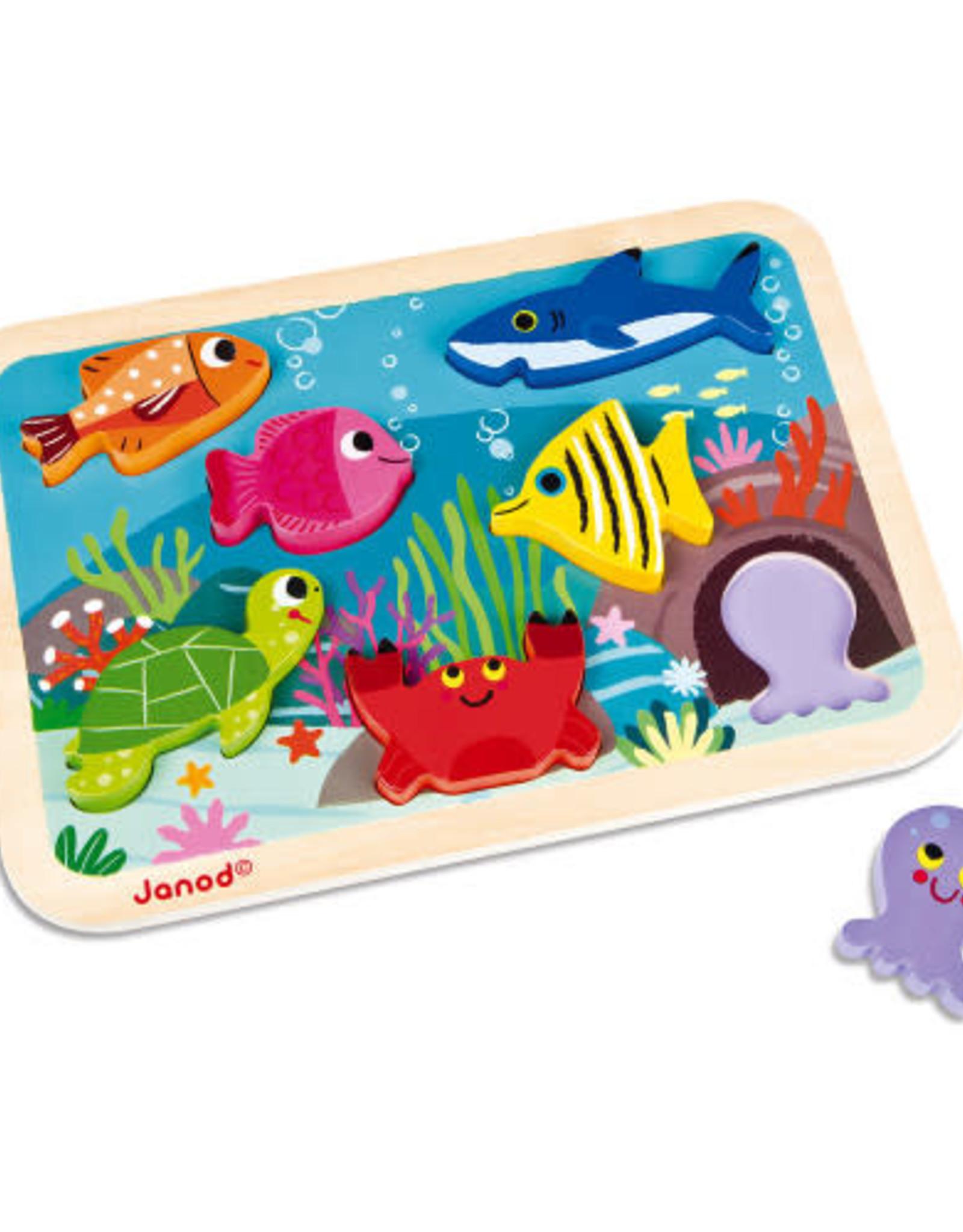 Janod 3D Chunky Puzzle marine