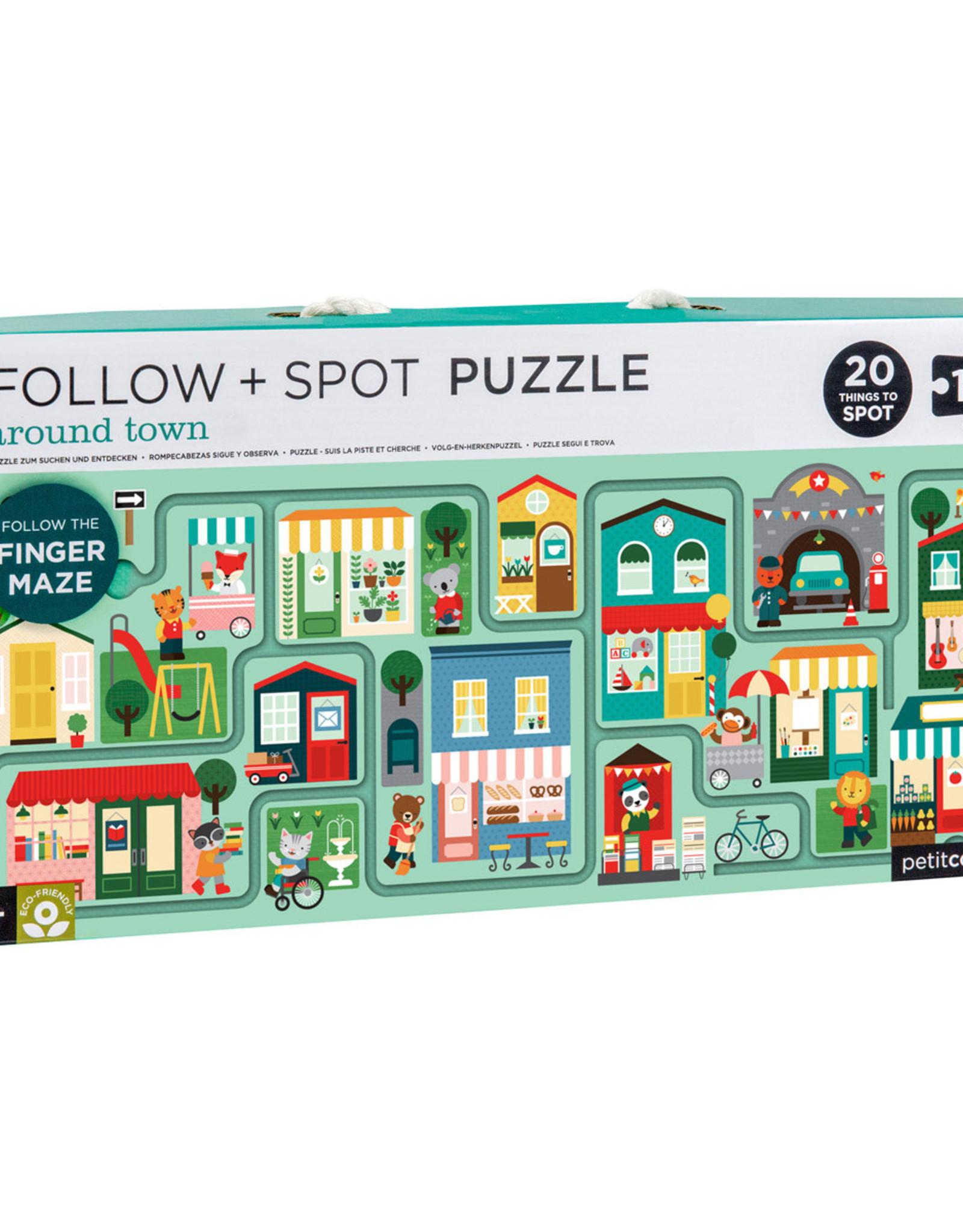 Petit Collage Follow + Spot Puzzle Around Town