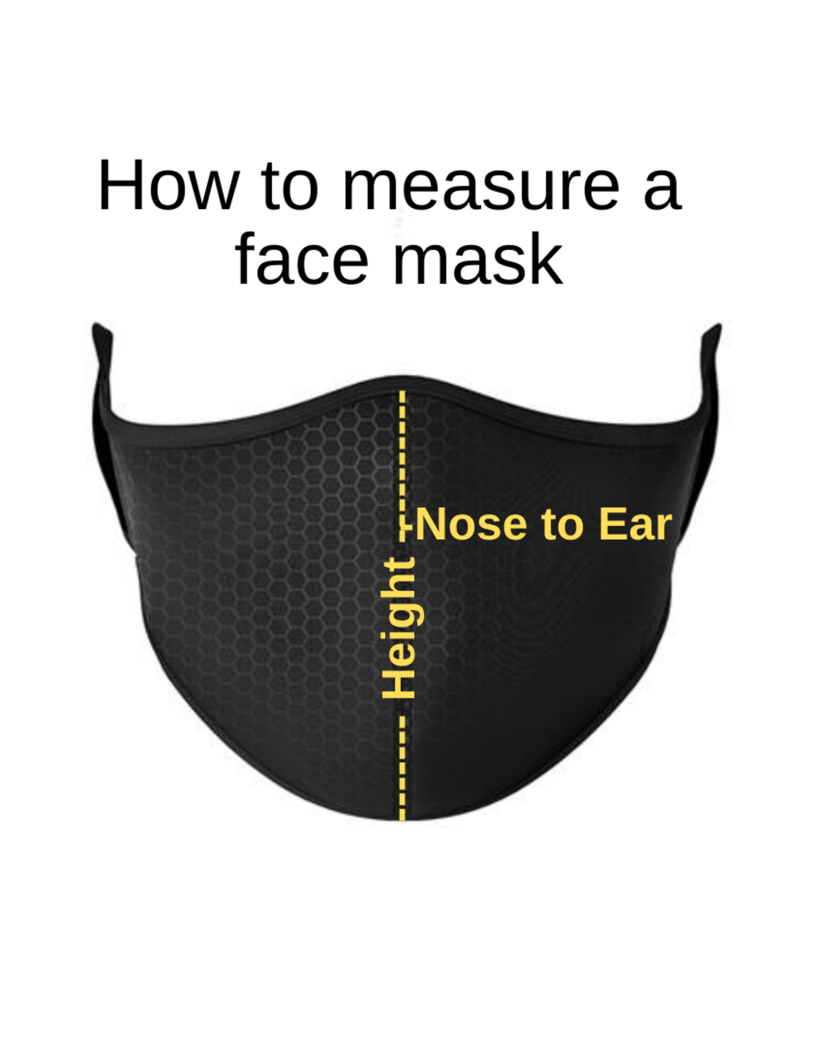 Top Trenz Fashion Face Mask, Large, H-Tooth