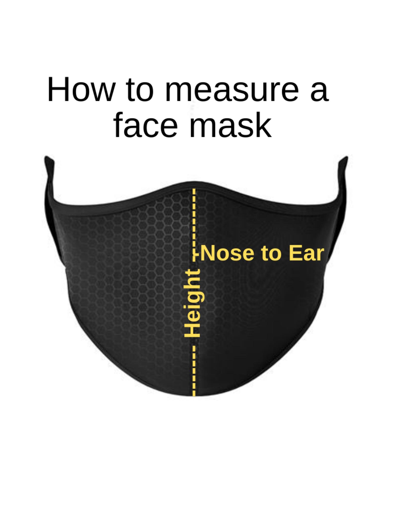 Top Trenz Fashion Face Mask, Large, Neon Splatter