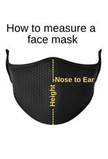 Top Trenz Fashion Face Mask, Large, Pastel Tie-Dye