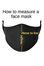 Top Trenz Fashion Face Mask, Large, Sports City