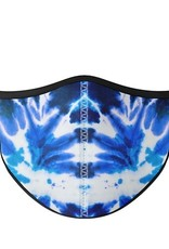Top Trenz Fashion Face Mask, Small, Blue Tie Dye