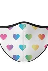 Top Trenz Fashion Face Mask, Small, Multi Heart