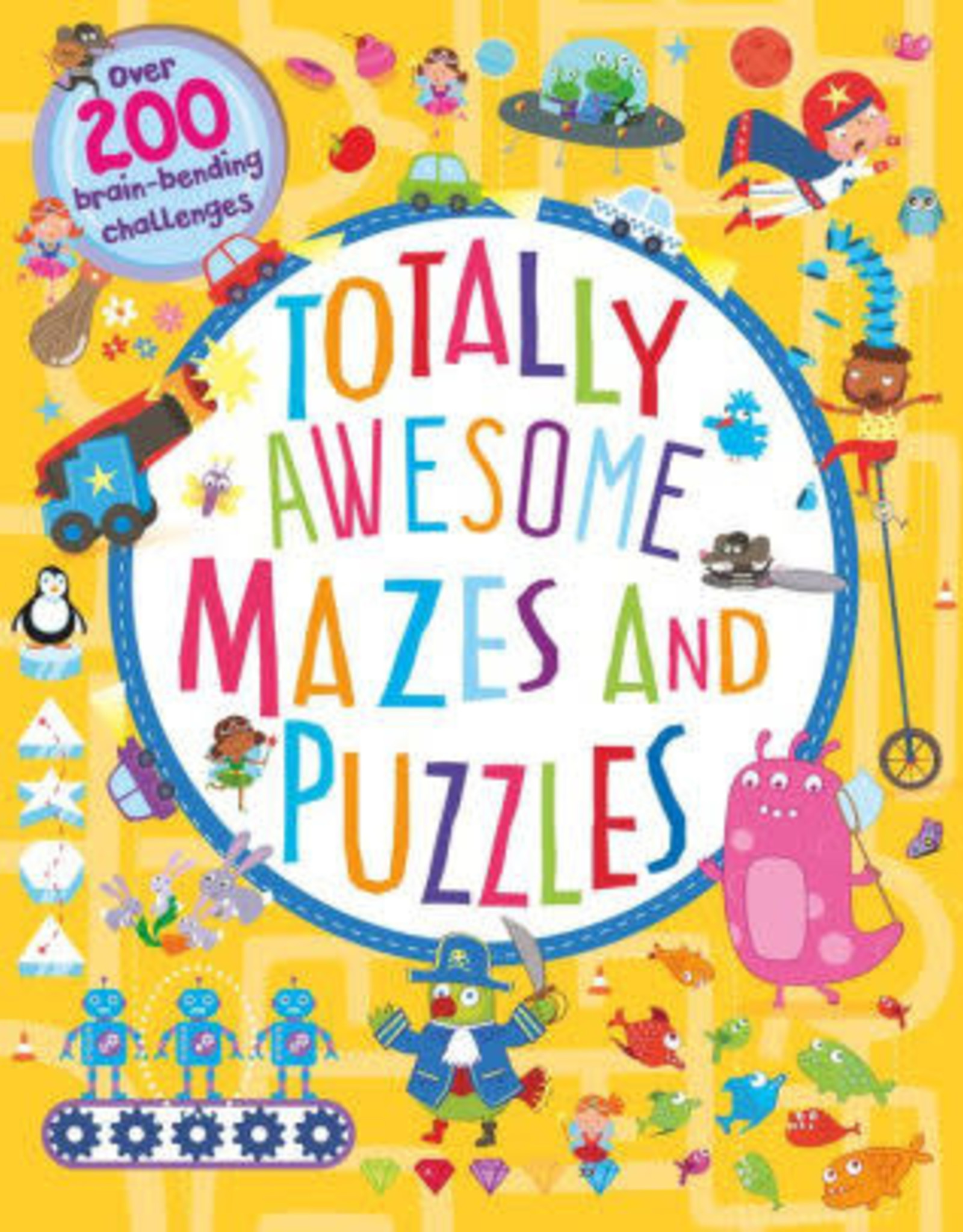 Parragon Books Totally Awesome Mazes and Puzzles