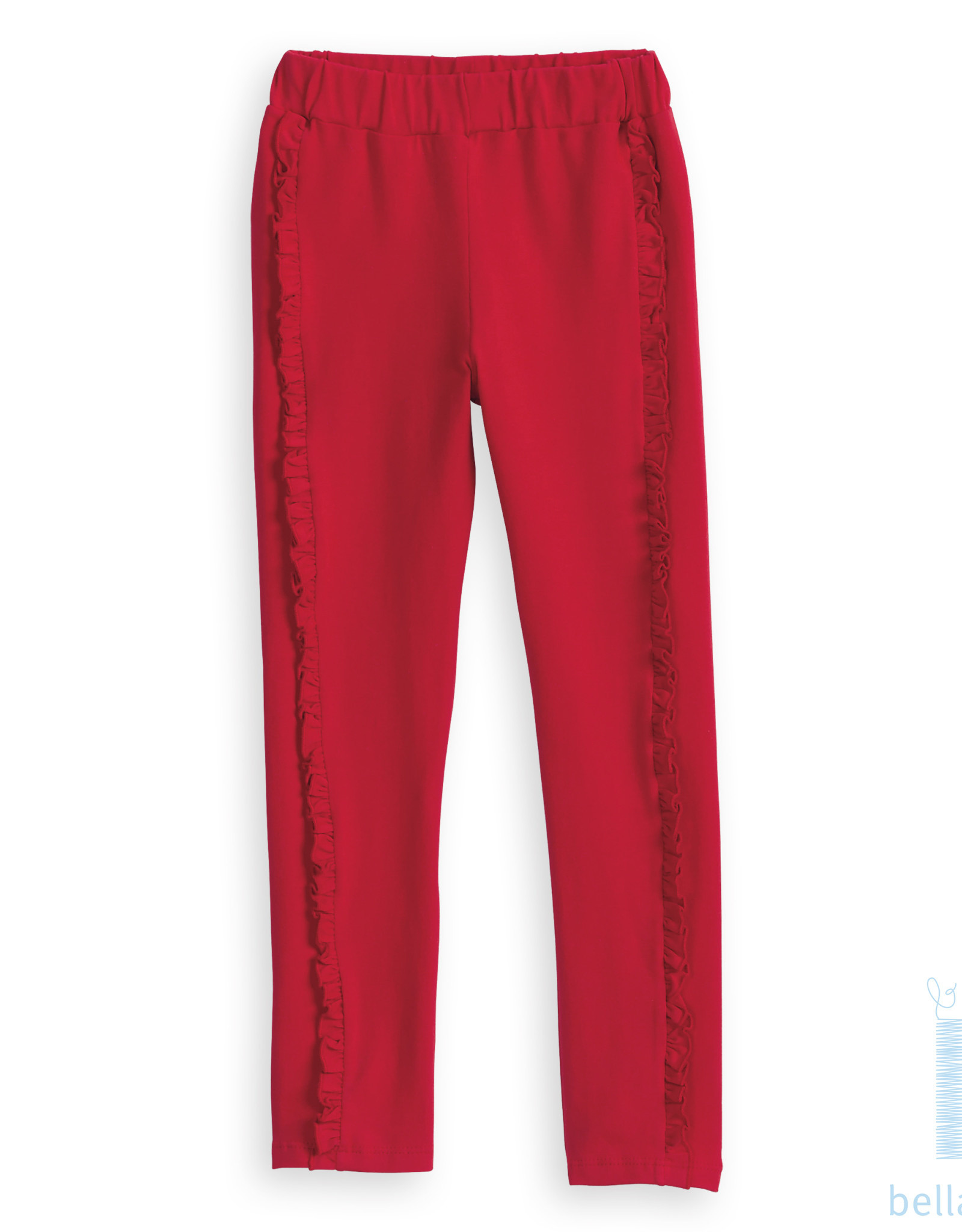 Bella Bliss Jersey Ruffled Leggings, Red