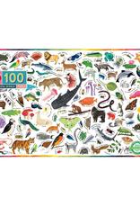 eeBoo Beautiful World 100 Piece Puzzle
