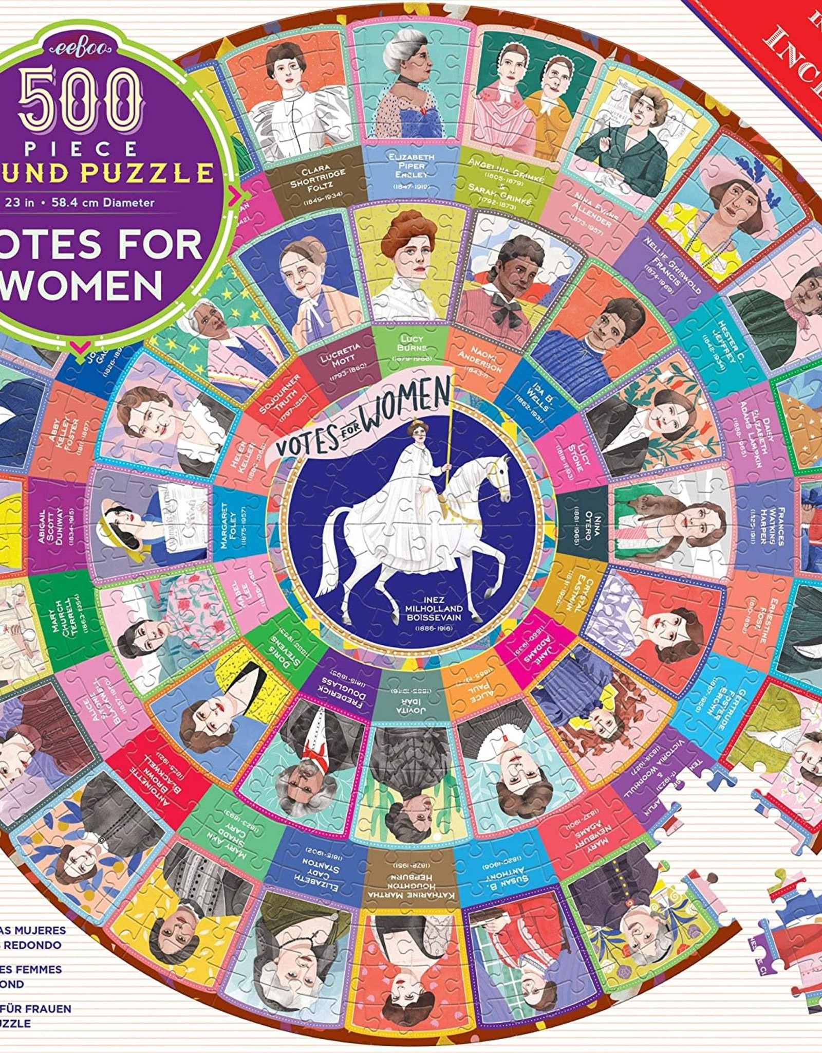 eeboo Votes for Women 500 pc Round Puzzle