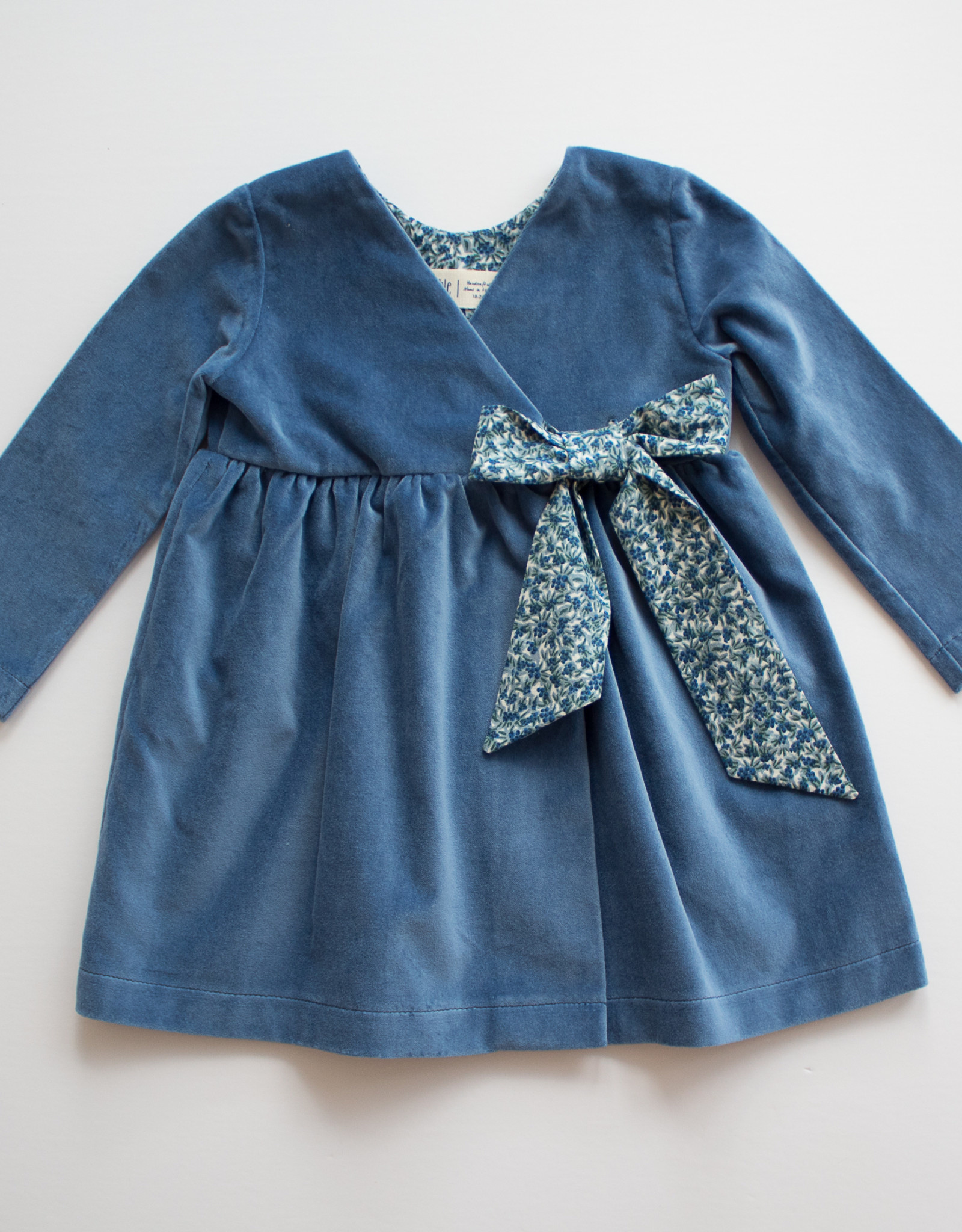 Thimble Collection Velveteen Wrap Dress