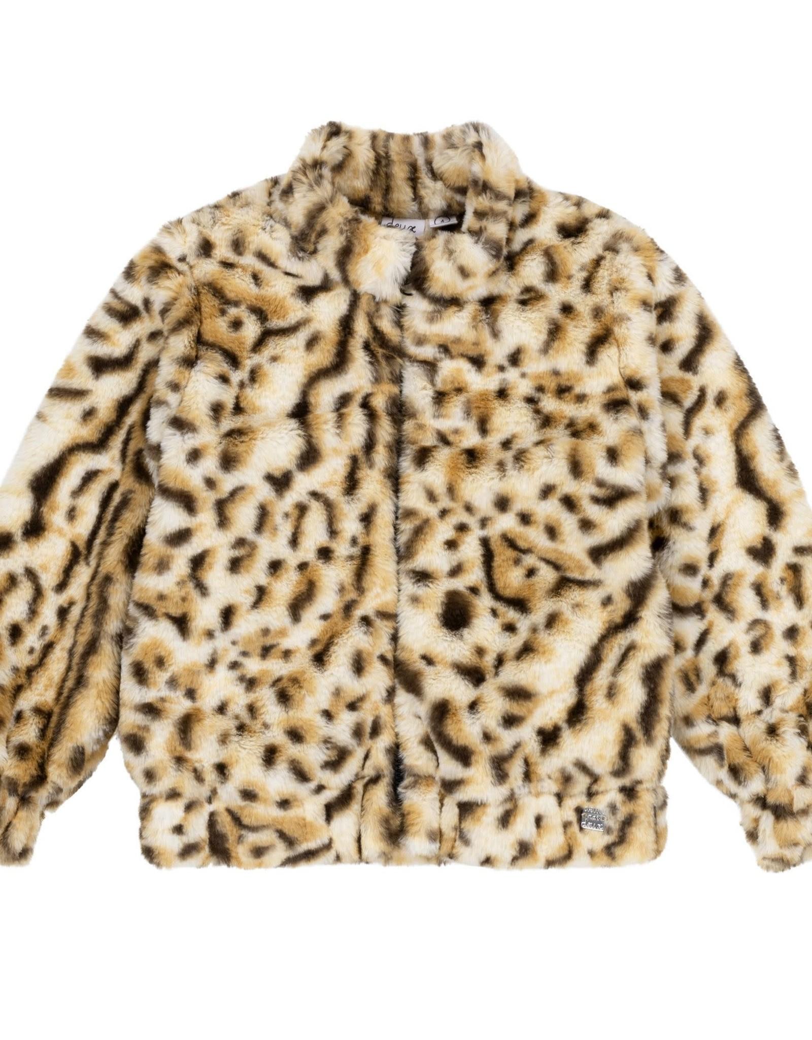 Deux Par Deux Leopard Print Jacket