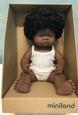 """Miniland Baby Doll African 15"""" Girl"""