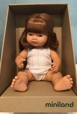 "Miniland Baby Doll Redhead 15"" Girl"