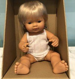 "Miniland Baby Doll Caucasian 15"" Boy"