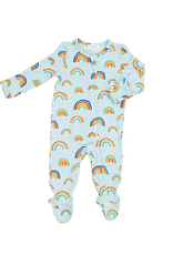 Angel Dear Rainbows Zipper Footie, Blue Multi
