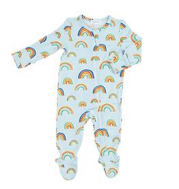 Angel Dear Rainbows Zipper Footie, Blue Multi