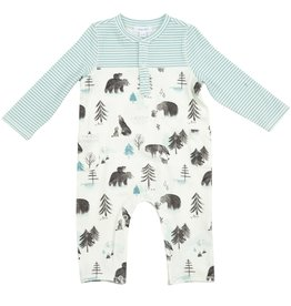 Angel Dear Mama and Cubs Romper with Pockets