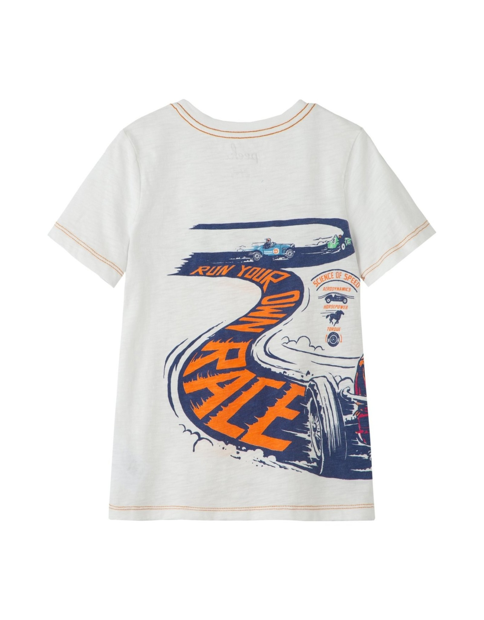 Peek Jason Finish Line Tee, Off White