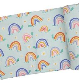 Angel Dear Swaddle Blanket Rainbow Turtles