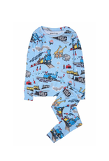 Books to Bed Pajamas Little Engine,  Blue