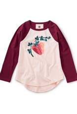 Tea Juicy Strawberry Raglan Graphic Tee