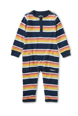 Tea Striped Cargo Romper