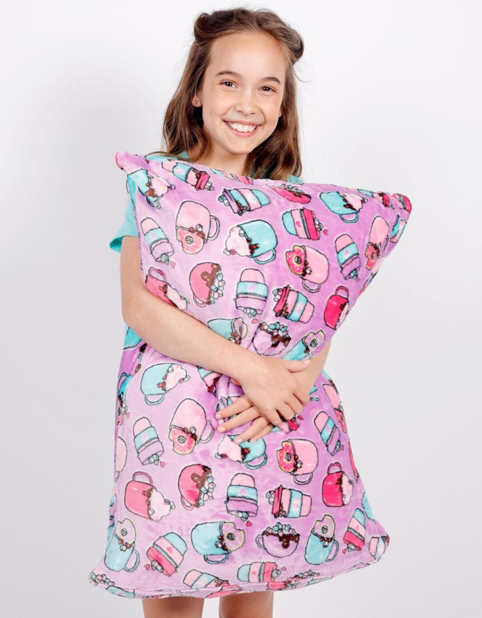 Candy Pink Hot Chocolate Pillowcase