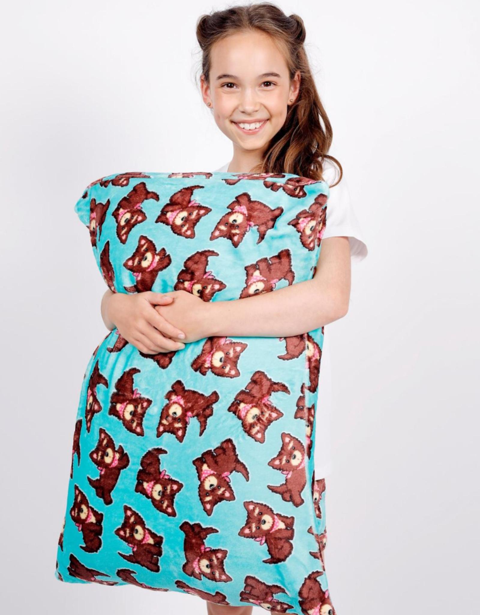 Candy Pink Bandana Dogs Pillowcase