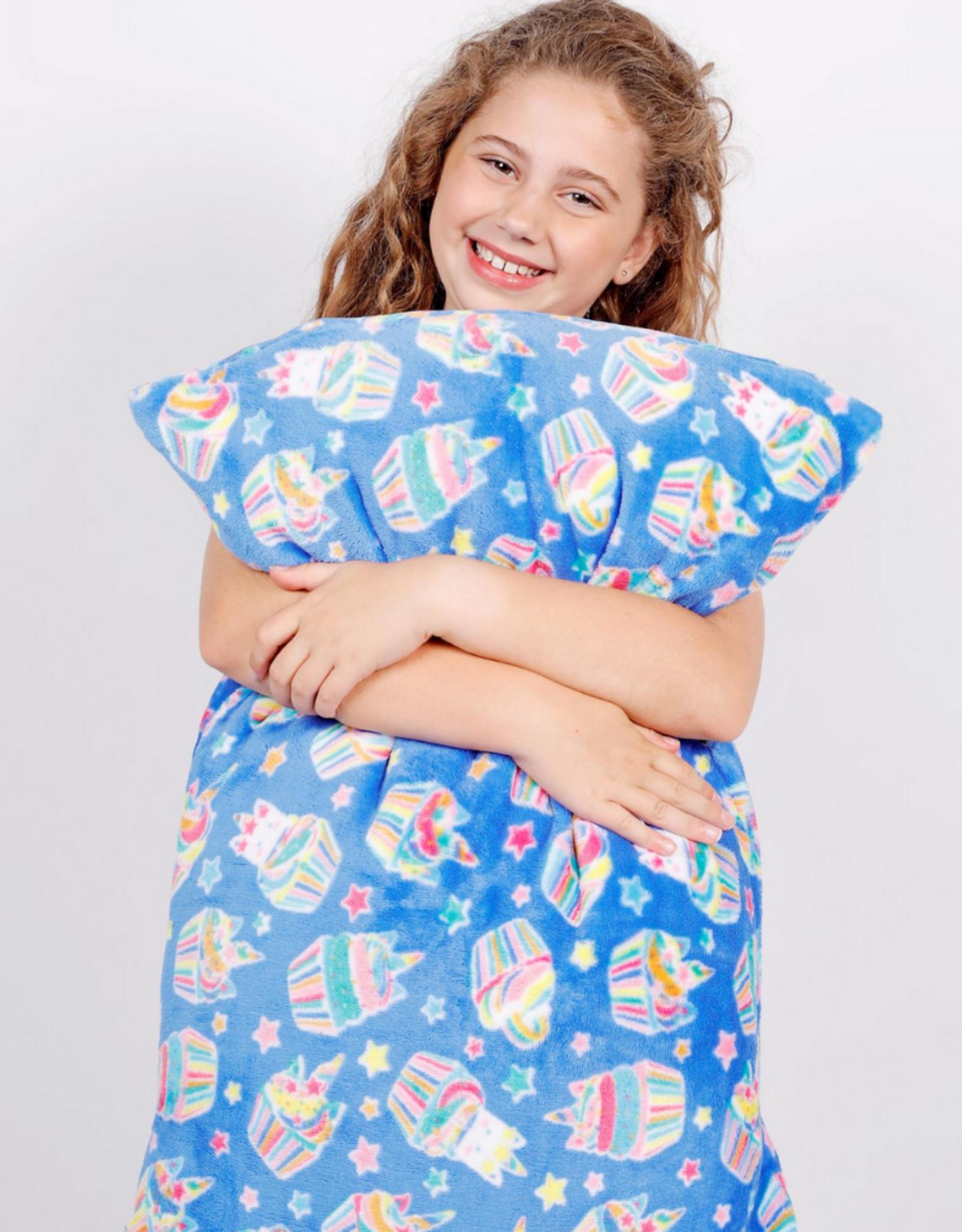 Candy Pink Unicorn Cupcake Pillowcase
