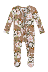 Posh Peanut Leona Footie Ruffled Zippered One Piece
