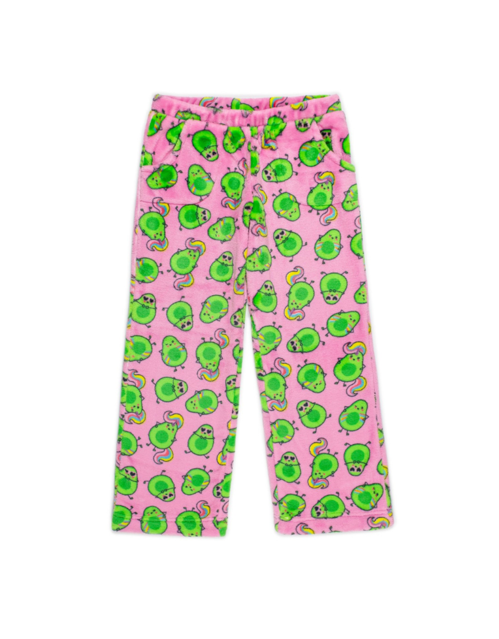 Candy Pink Fleece Pants  Avocado