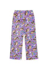 Candy Pink Fleece Pants Pugicorn
