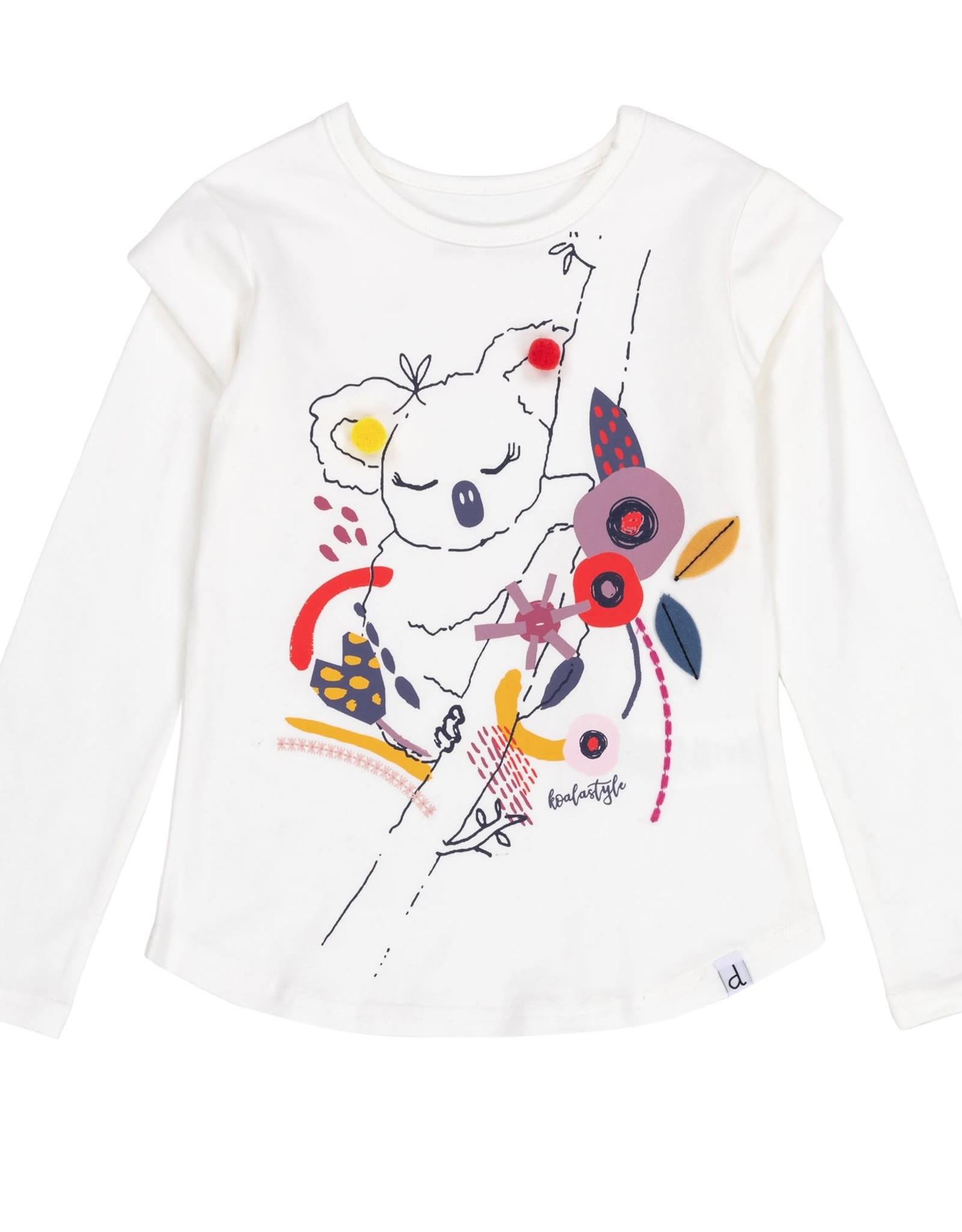 Deux par Deux Koala T-Shirt with Pompoms