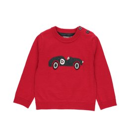 Boboli Sweater, Car, Red & Grey
