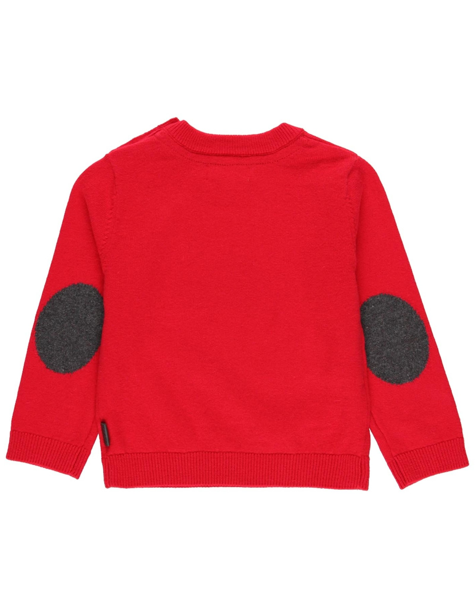 Boboli Sweater, Car, Red & Grey