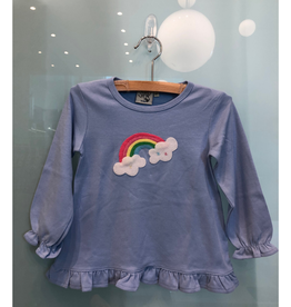 Luigi Long Sleeve Swing Top with Rainbow