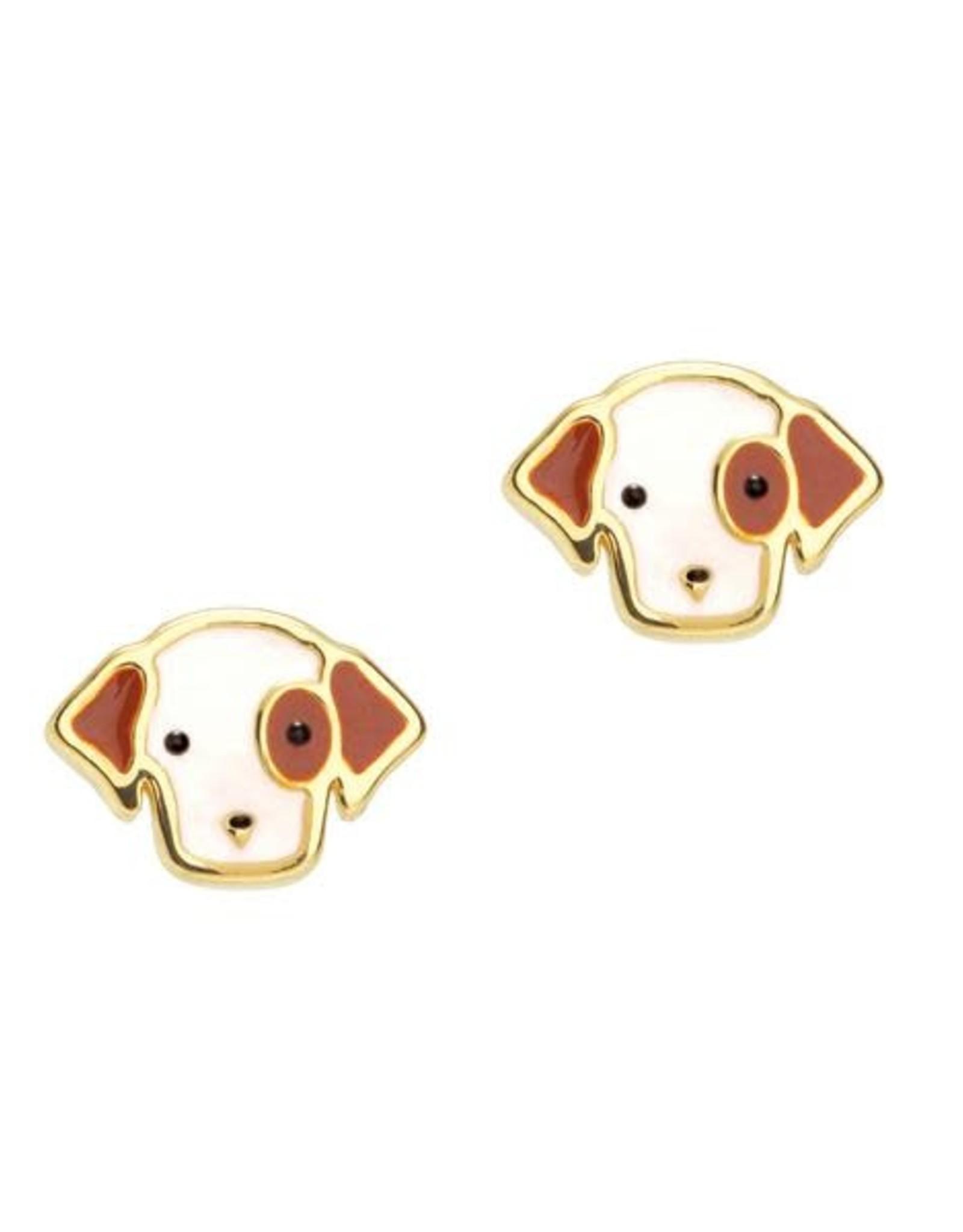 Girl Nation Perky Puppy  Stud Earrings