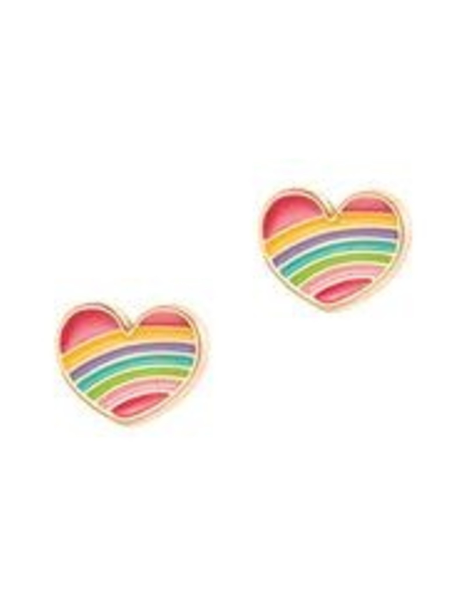 Girl Nation Girl Nation Rainbow Heart Stud Earrings
