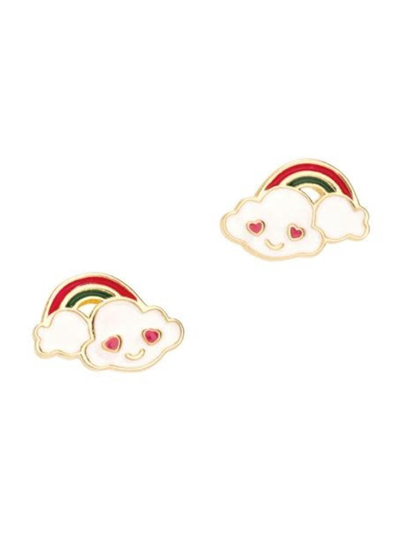 Girl Nation Cloud Loves Rainbow Stud Earrings